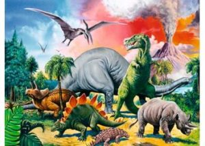 Ravensburger Among The Dinosaurs 100pc Puzzle