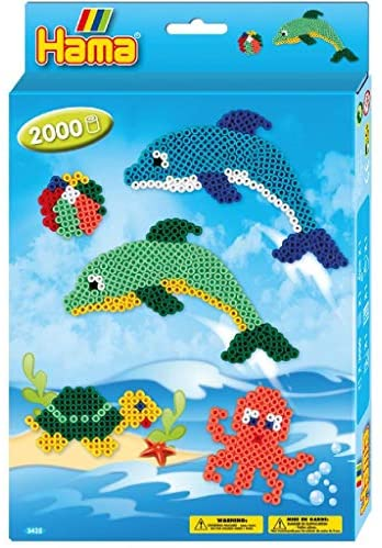 Hama Beads Dolphin Kit (1,100pcs)