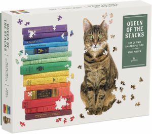 Queen of The Stacks: Set of Two Shaped Puzzles 650pc