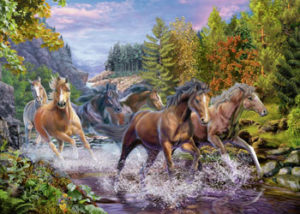Ravensburger Rushing River Horses Puzzle 100 pieces