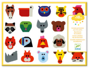 Djeco DJ9089 Head-to-Head Stickers for Toddlers