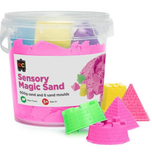 Pink Sensory Magic Sand with Moulds 600g