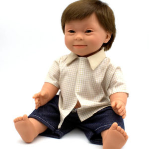Baby Boy Doll With Down Syndrome Features 40cm