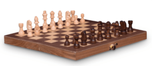 French Cut Wooden Chess 30cm