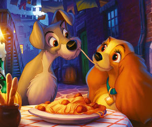 Ravensburger Disney Lady and Tramp Moments 1000pc Puzzle