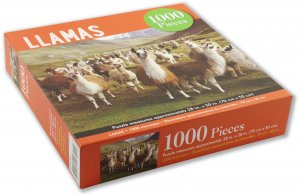 Peter Pauper Press Llamas Puzzle 1000pcs