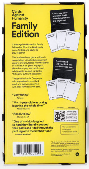 Cards Against Humanity Family Edition