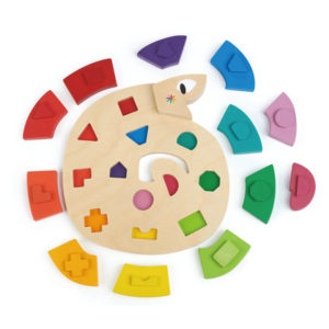 Colour Me Happy Wooden Worm Puzzle 13pc