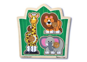 M&D Jungle Friends Jumbo Knob Puzzle