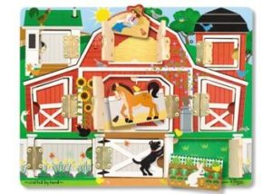 Melissa & Doug Magnetic Farm Hide & Seek