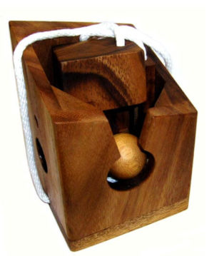 Bottle Lock Large Wooden Puzzle