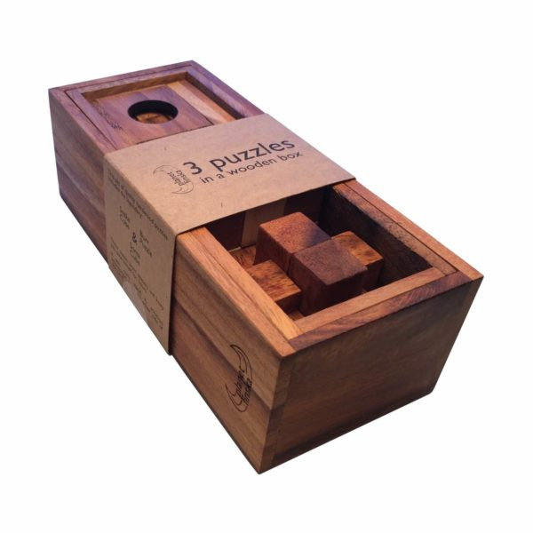 Planet Finska 3 Puzzles in a Wooden Box