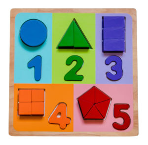 Numbers and Fractions Wooden Puzzle Kiddie Connect