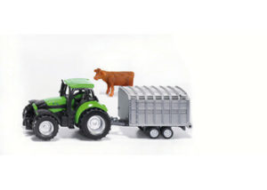 Siku 1640 Tractor with Stock Trailer 1:87 Scale