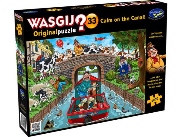 Wasgij? Original 33 Calm on the Canal! Puzzle 1000pc