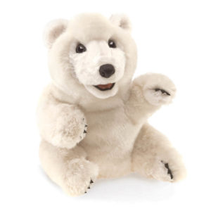 Folkmanis Sitting Polar Bear Puppet