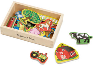 M&D Wooden Farm Magnets in a Box 20pc