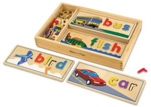 M&D See And Spell Wooden Puzzle