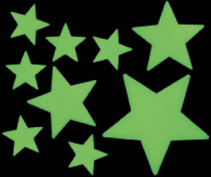 Glow Zone Stars Sticker Pack