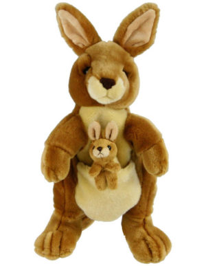 Kangaroo with Joey 32cm Hand Puppet