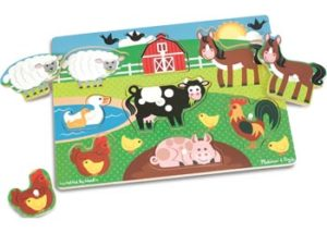 M&D Farm Animals Peg Puzzle