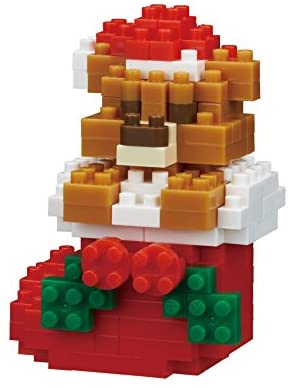 Nanoblock Teddy Bear With Christmas Stockings