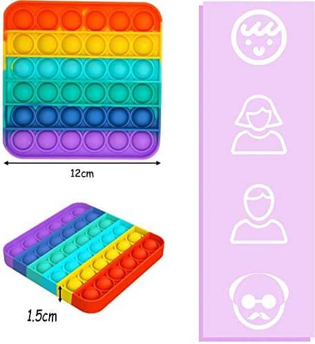 Pop It Hexagonal Rainbow Sensory Toy