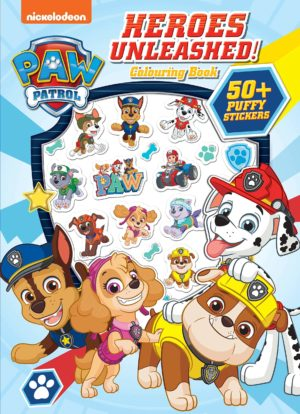 Paw Patrol Colouring Book with Puffy Stickers 50+pcs
