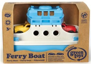 Green Toys Ferry Boat With Two Mini Cars