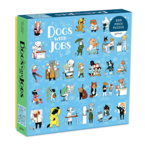 Galison Dogs With Jobs Puzzle 500pc