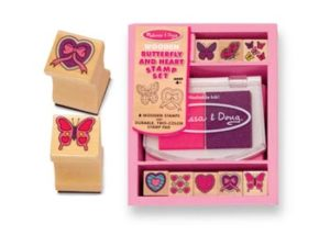 M&D Butterfly & Heart Stamp Set