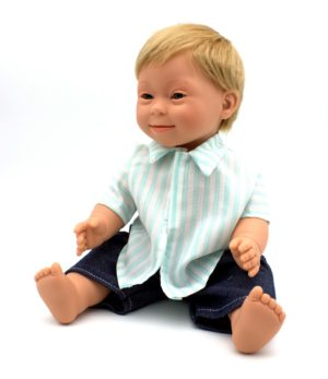 Baby Boy Blonde Hair with Down Syndrome Features 40cm