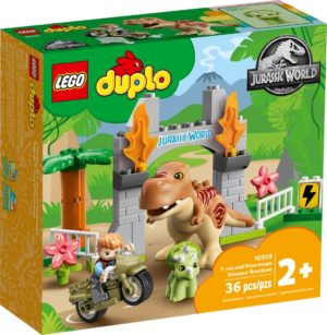 LEGO DUPLO 10939 T-Rex And Triceratops Dinosaur Breakout