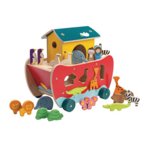Noah's Ark Shape Sorter Tender Leaf Toys 32pc