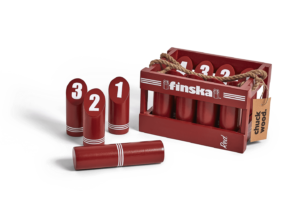 Planet Finska Retro Red Wooden Game
